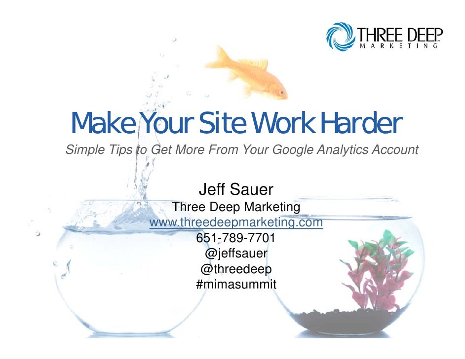 Make your website work harder with Google Analytics