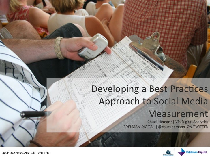 Developing a Best Practices Approach to Social Media Measurement