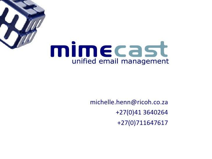 Mimecast Presentation