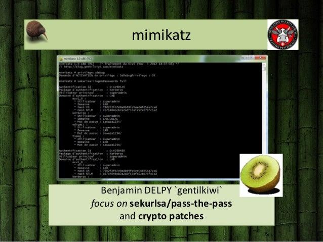 ASFWS 2012 - Mimikatz par Benjamin Delpy