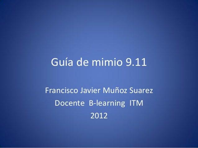 Mimio tutorial 2012 2