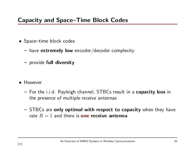 space time block coding thesis International journal of computer applications (0975 - 8887) volume 100- no2, august 2014 1 space time block code analysis for mimo-ofdm system.