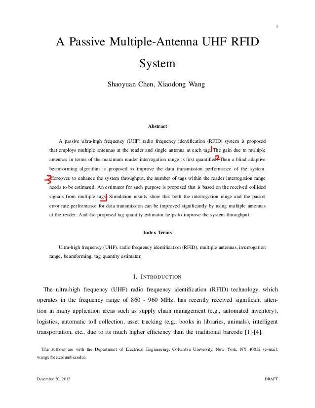 1         A Passive Multiple-Antenna UHF RFID                                                 System                      ...