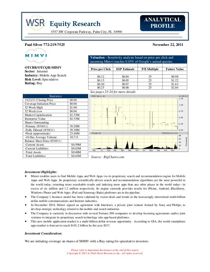 ANALYTICAL                   Equity Research                                                                        PROFIL...