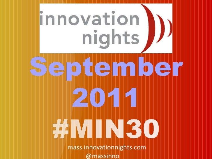 #MIN30 event screenshow