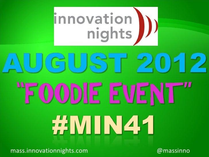 #MIN41 event screenshow