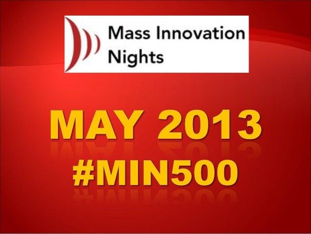 #MIN500 @MassInno marks 500