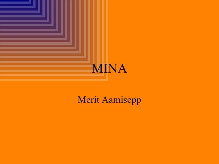 MINA Merit Aamisepp