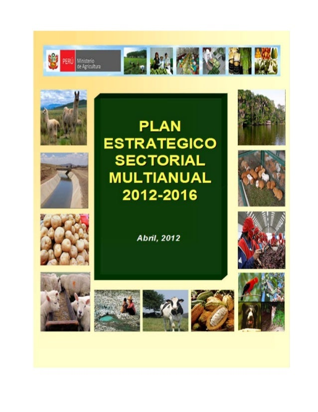 MINAG - plan estrategico 2012-2016