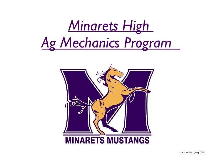 Minarets Ag Mechanics for 2010-2011