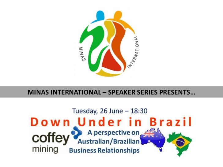 MINAS INTERNATIONAL – SPEAKER SERIES PRESENTS…