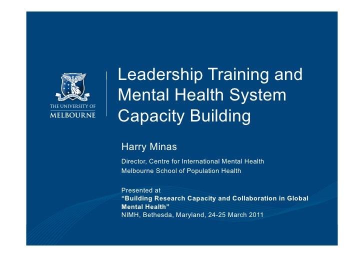 Leadership Training and                                             Mental Health System                                  ...