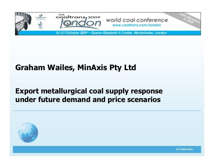 MinAxis Presentation CT London 2009