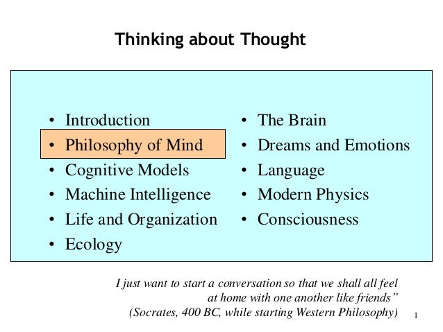 "Philosophy of Mind - Part 2 of Piero Scaruffi's class ""Thinking about Thought"" at UC Berkeley (2014)"