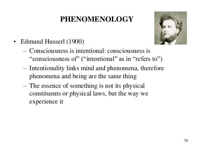 Phenomenology by Edmund Husserl