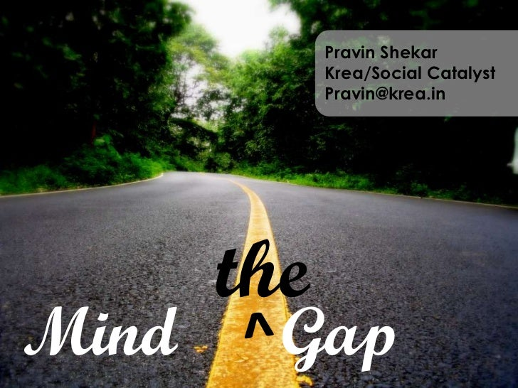 MIND the GAP: Presentation in Athens, ESOMAR Congress: Pecha Kucha Style