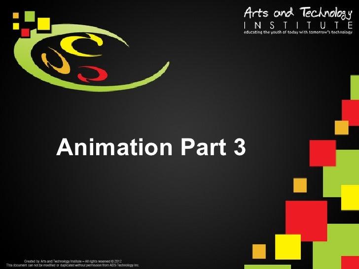 Animation Part 3