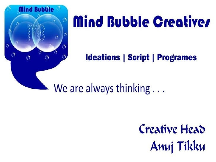 Mind bubble creatives new ppt