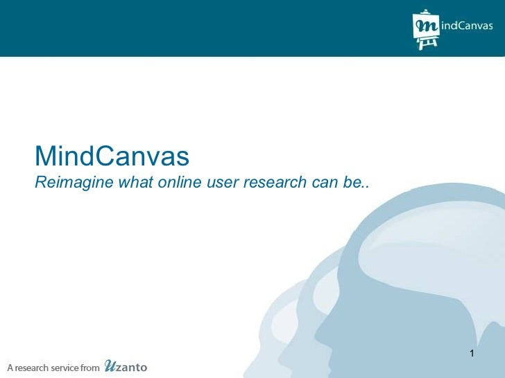 MindCanvas- Reimagine what online user research can be