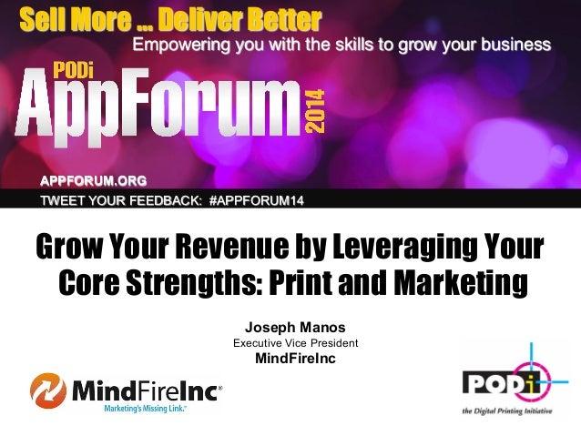MindFire Presentation at PODi AppForum 2014