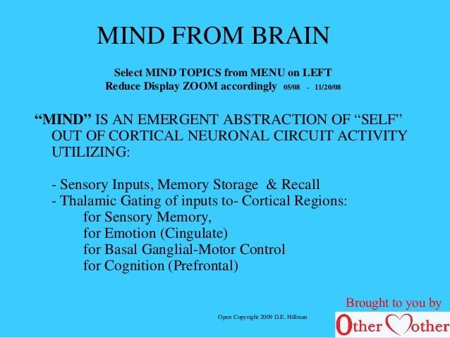 Mind from brain