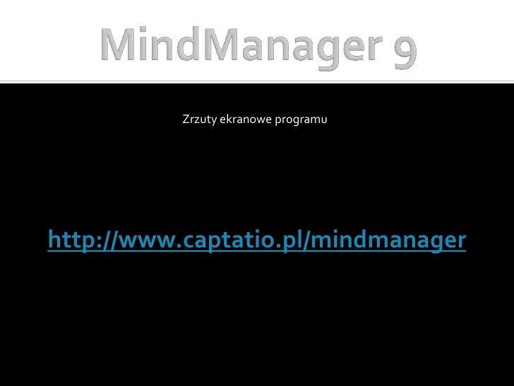 MindManager 9 - zrzuty ekranowe