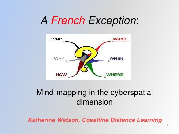 A French Exception:       Mind-mapping in the cyberspatial            dimension  Katherine Watson, Coastline Distance Lear...