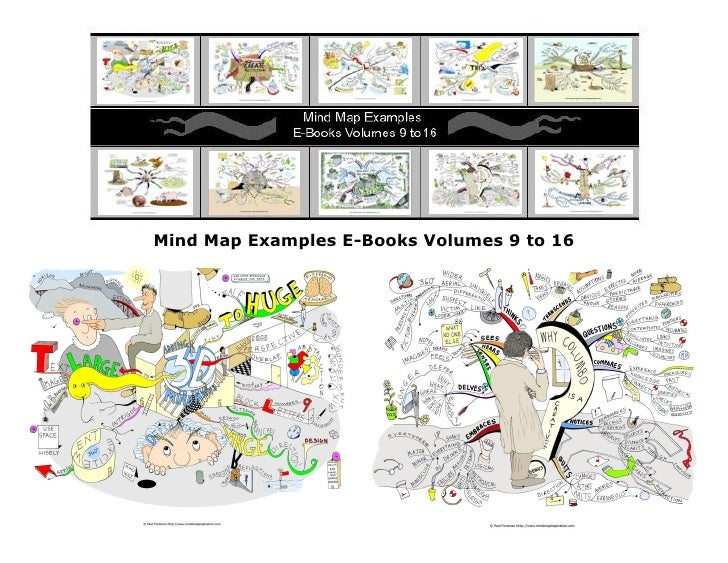 Mind map examples volumes 9 to 16 by Paul Foreman