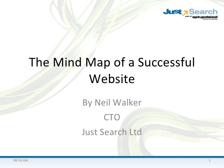The Mind Map of a Successful Website By Neil Walker CTO Just Search Ltd 08:58 AM