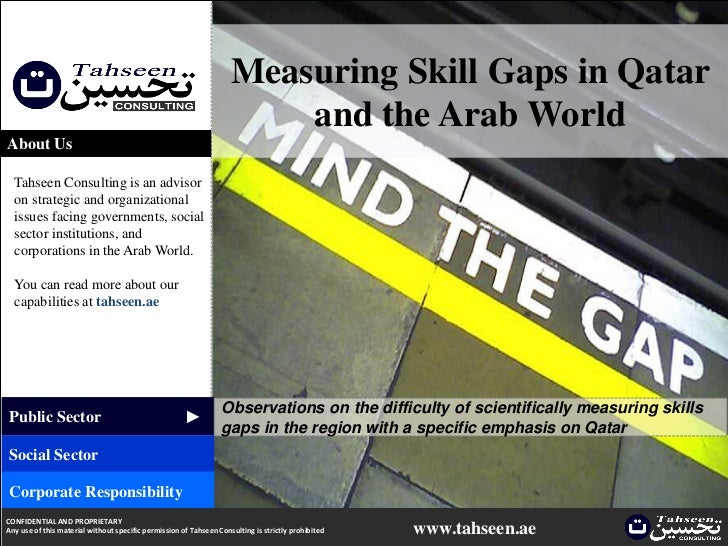 Measuring Skill Gaps in Qatar and the Arab World