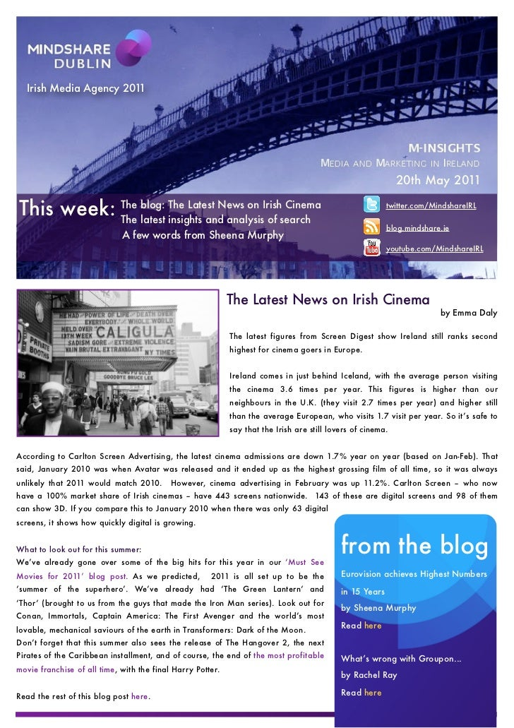Mindshare Weekly Newsletter 20th May 2011