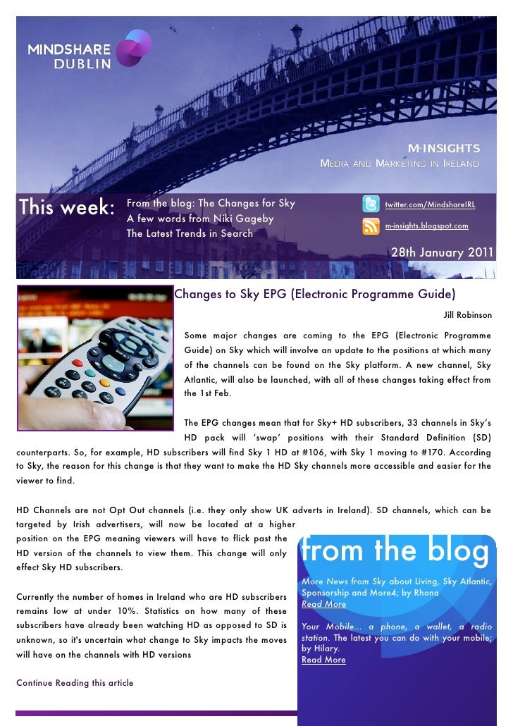 This week:                   From the blog: The Changes for Sky                             A few words from Niki Gageby  ...
