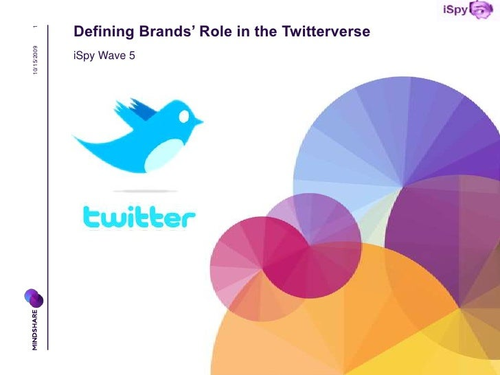 1 10/15/2009   Defining Brands' Role in the Twitterverse              iSpy Wave 5