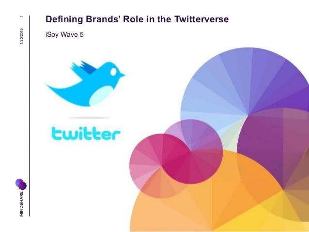 Defining Brands' Role in the Twitterverse iSpy Wave 5 1/30/20151