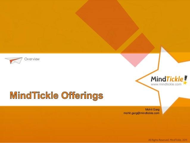 MindTickle Offerings
