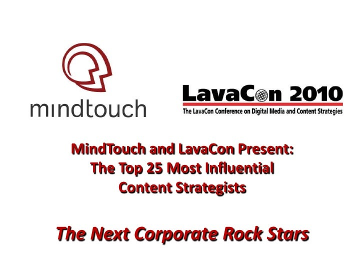 Sneak Peek: MindTouch and LavaCon Present the Top 25 Content Strategists