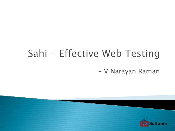 Sahi - Effective Web Testing (MT)