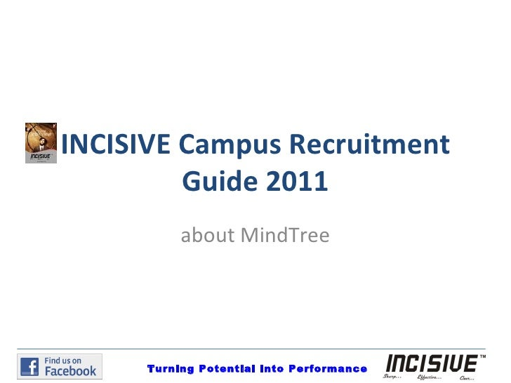 INCISIVE Campus Recruitment Guide 2011 about MindTree Turning Potential into Performance