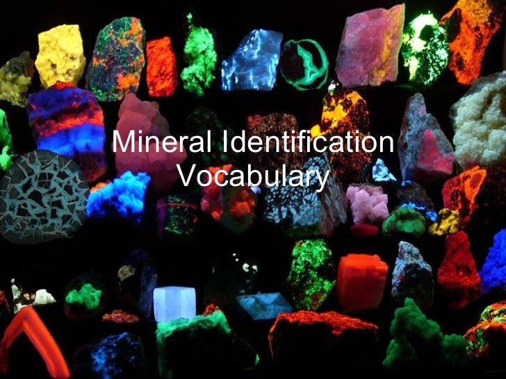 Mineral Identification Vocabulary