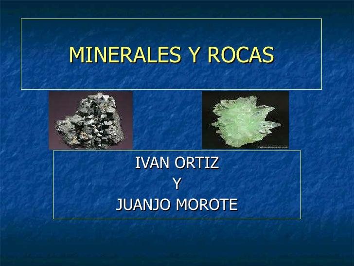 Minerales y piedras