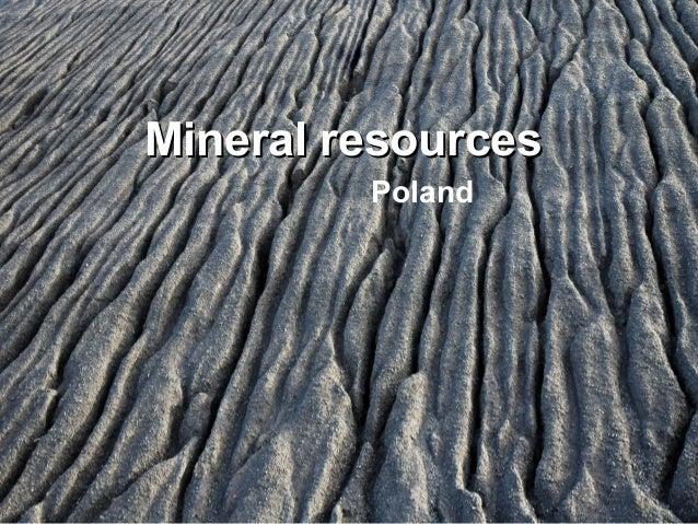 Mineral resources prezentacja