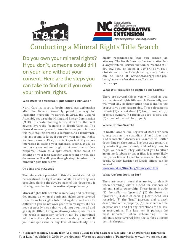 How to Conduct a Mineral Rights Title Search