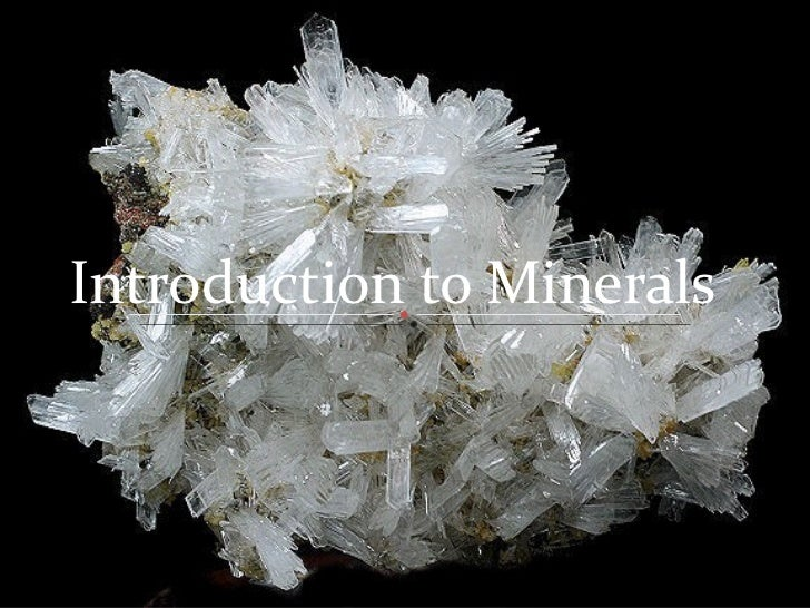 Minerals introduction