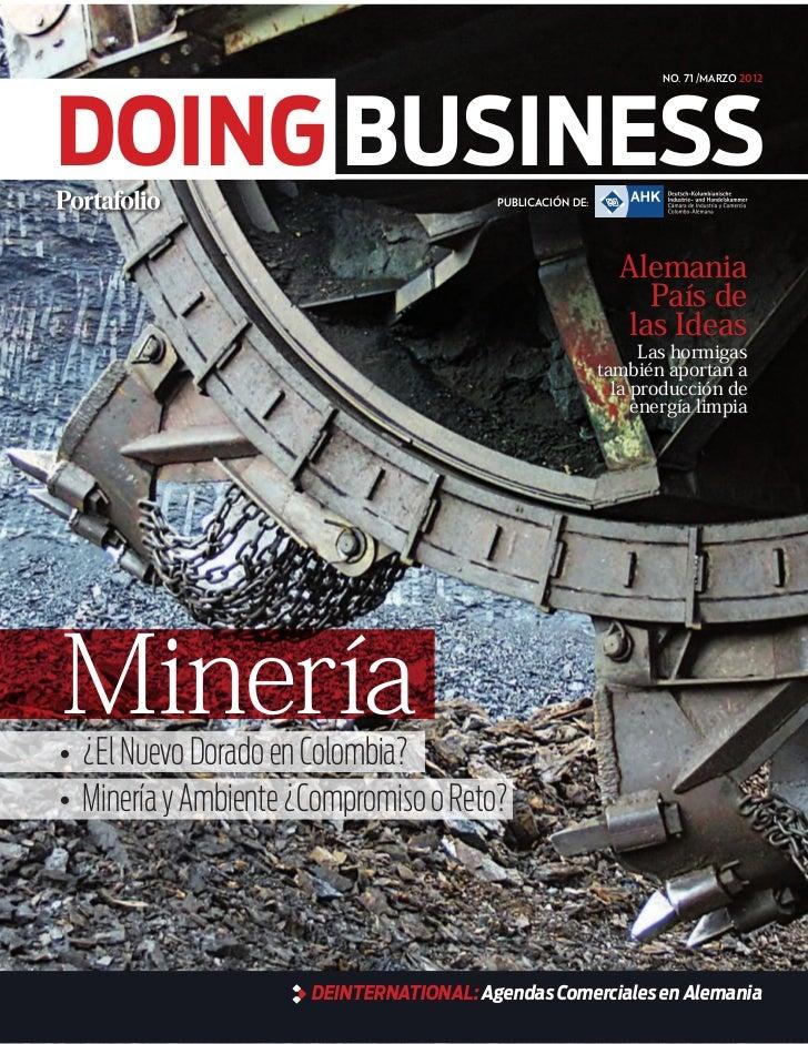 No. 71 /marzo 2012DOING BUSINESS                           Publicación de:                                                ...