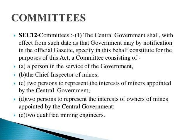the mines act 1952 pdf