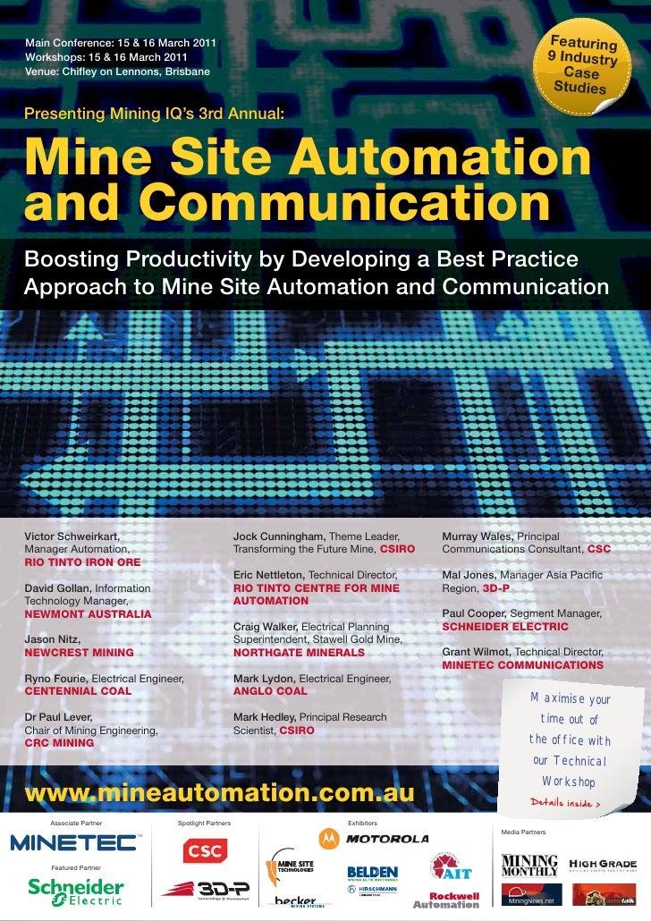 Mine Site Automation 2011