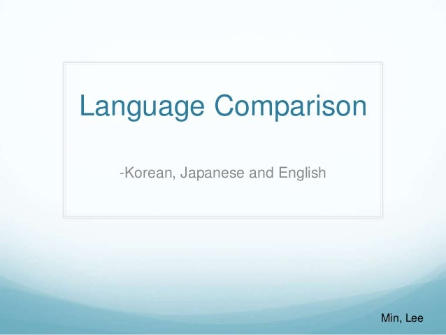 Language Comparison (Korean, Japanese and English)