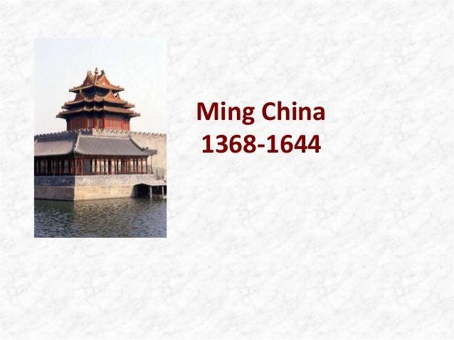 Ming China 1368-1644
