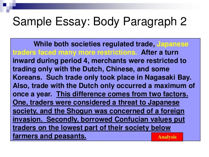 example of essay paragraph