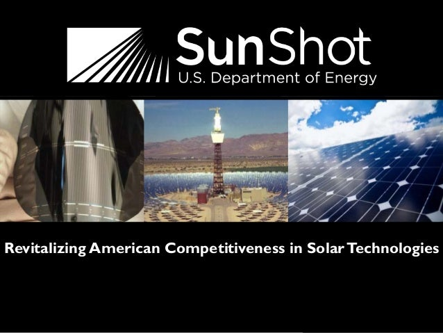 1 Revitalizing American Competitiveness in SolarTechnologies